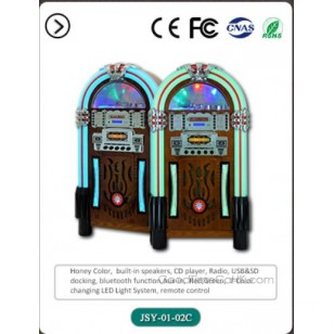 Full Size Retro Jukebox with CD Player,Bluetooth,Radio,AUX-in and Line-out Function