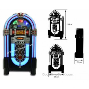 Bass Stereo Speaker Jukebox with CD Player,Radio,AUX-in and Line-out Function