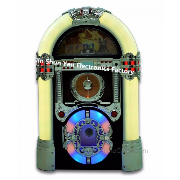 Tabletop Jukebox with CD Player,AM/FM,USB/SD docking and