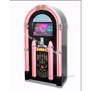Coin-operated Touch Screen Display KaraokeJukebox with USB to load song and Line-out functions