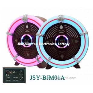 LED Lights Round Table-top Jukebox USB/SD,FM Radio,Bluetooth