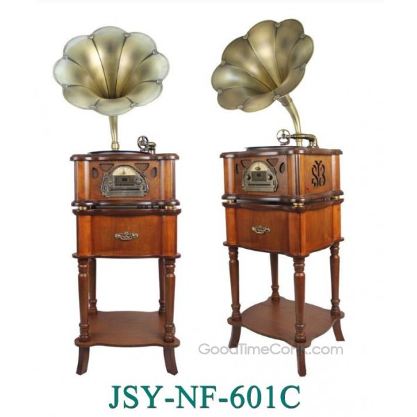 Retro Vinyl Player Wood Cabinet Turntable USB,AUX,CD,Bluetooth